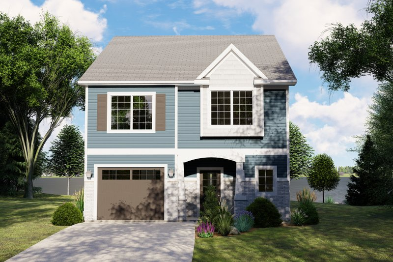 House Plan Design - Craftsman Exterior - Front Elevation Plan #1064-84