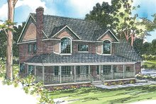 Farmhouse Exterior - Front Elevation Plan #124-178
