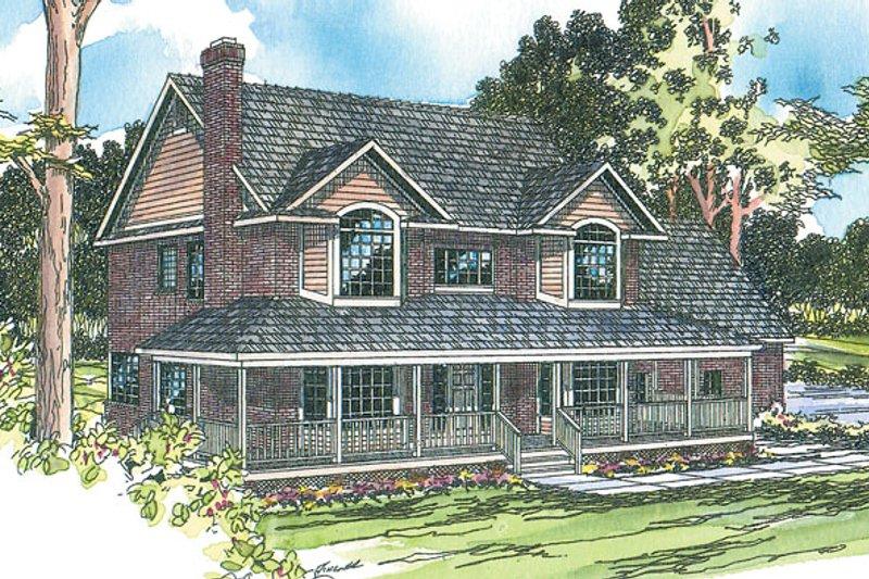 Farmhouse Exterior - Front Elevation Plan #124-178