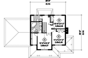 Country Style House Plan - 3 Beds 2 Baths 1708 Sq/Ft Plan #25-4318 Floor Plan - Upper Floor Plan