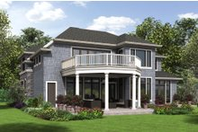 Home Plan - European Exterior - Rear Elevation Plan #48-650
