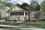 Traditional Style House Plan - 3 Beds 2 Baths 1348 Sq/Ft Plan #17-437 Exterior - Front Elevation