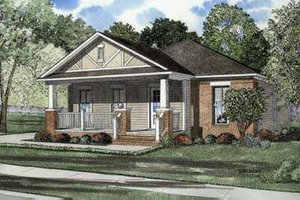 Traditional Exterior - Front Elevation Plan #17-437