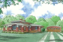 Architectural House Design - Modern Exterior - Front Elevation Plan #923-83
