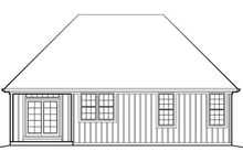 Home Plan - Cottage Exterior - Rear Elevation Plan #48-281
