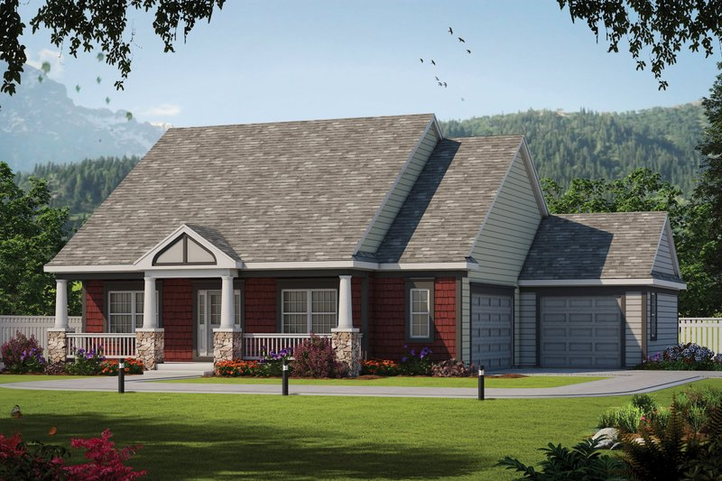 Home Plan - Traditional Exterior - Front Elevation Plan #20-2445