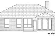 Traditional Style House Plan - 3 Beds 2 Baths 1325 Sq/Ft Plan #84-542 Exterior - Rear Elevation