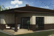 Bungalow Style House Plan - 3 Beds 2 Baths 1545 Sq/Ft Plan #906-10 Exterior - Front Elevation