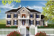 Colonial Style House Plan - 4 Beds 3.5 Baths 3622 Sq/Ft Plan #70-1144