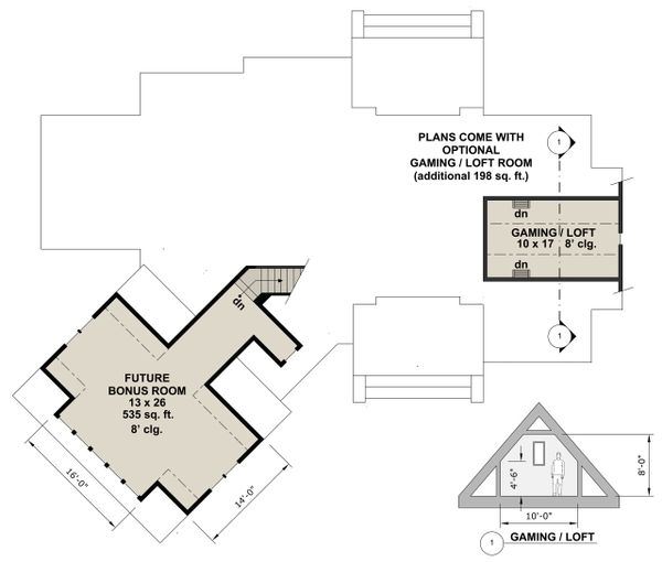 Farmhouse Floor Plan - Other Floor Plan Plan #51-1135