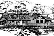 Modern Style House Plan - 3 Beds 2 Baths 1454 Sq/Ft Plan #10-124