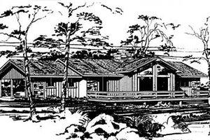 Modern Exterior - Front Elevation Plan #10-124