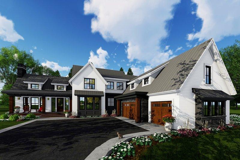 Architectural House Design - Farmhouse Exterior - Front Elevation Plan #51-1145