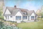 Farmhouse Style House Plan - 4 Beds 3.5 Baths 3445 Sq/Ft Plan #928-303 Exterior - Rear Elevation