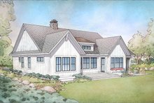 Dream House Plan - Farmhouse Exterior - Rear Elevation Plan #928-303