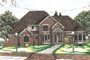 European Style House Plan - 4 Beds 3.5 Baths 3480 Sq/Ft Plan #20-1133 Exterior - Other Elevation