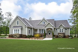 House Blueprint - Ranch Exterior - Front Elevation Plan #929-1005