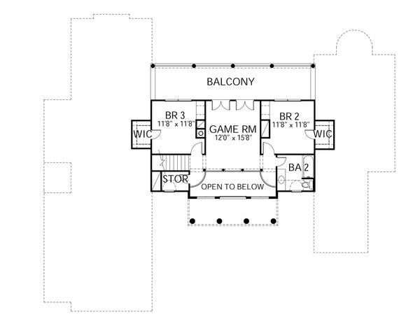 Colonial Floor Plan - Upper Floor Plan #80-181