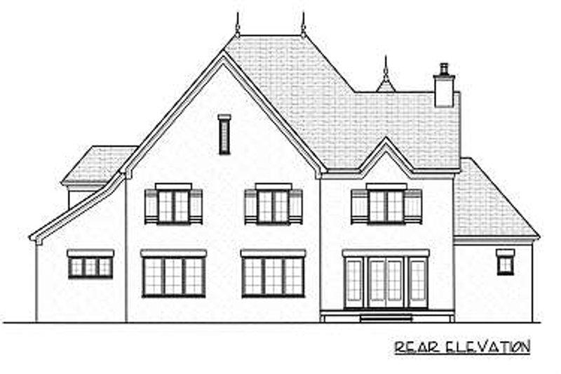 European Exterior - Rear Elevation Plan #413-150 - Houseplans.com