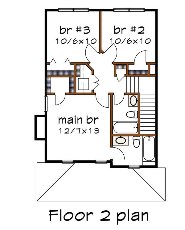 Country Floor Plan - Upper Floor Plan #79-173