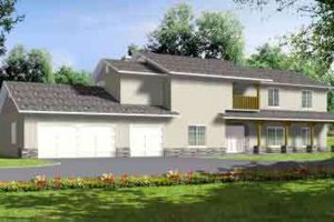 Country Exterior - Front Elevation Plan #1-853