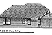 Traditional Style House Plan - 3 Beds 2.5 Baths 1760 Sq/Ft Plan #70-191 Exterior - Rear Elevation