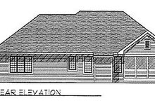 House Design - Traditional Exterior - Rear Elevation Plan #70-191