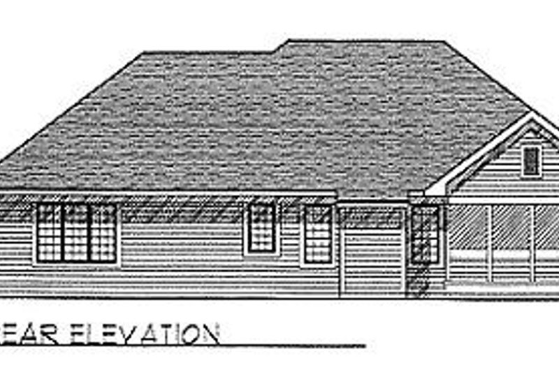 Traditional Exterior - Rear Elevation Plan #70-191 - Houseplans.com