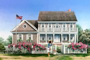 Colonial Style House Plan - 5 Beds 4 Baths 3277 Sq/Ft Plan #137-288 Exterior - Front Elevation