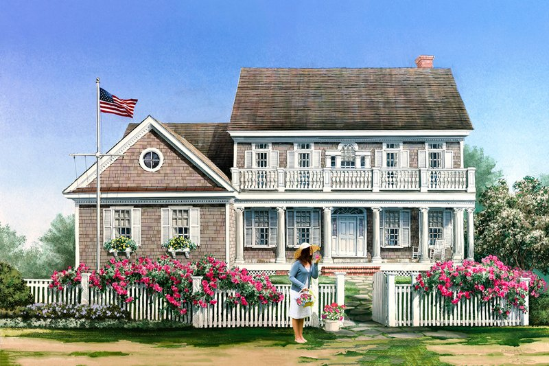 Dream House Plan - Cape Cod designed home, elevation