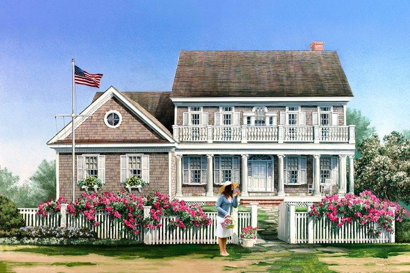 Dream House Plan - Cape Cod designed home, elevation