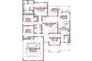 Traditional Style House Plan - 3 Beds 2 Baths 1692 Sq/Ft Plan #63-367 Floor Plan - Main Floor Plan