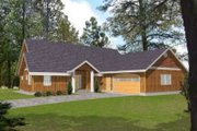 Traditional Style House Plan - 3 Beds 2.5 Baths 2477 Sq/Ft Plan #117-490 Exterior - Front Elevation
