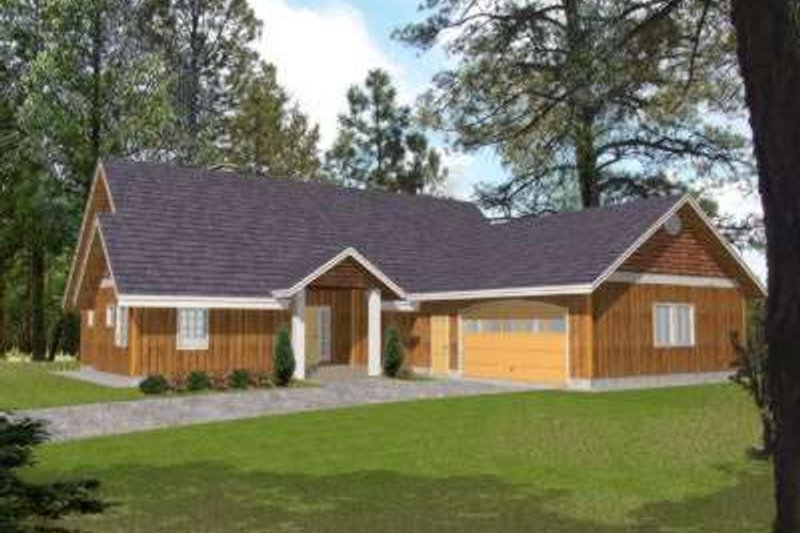 Traditional Exterior - Front Elevation Plan #117-490 - Houseplans.com