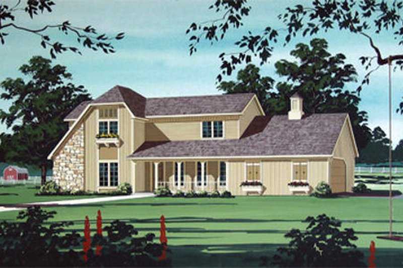 Country Exterior - Front Elevation Plan #45-352 - Houseplans.com