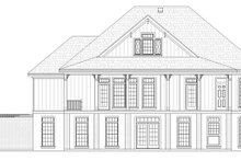 Cottage Exterior - Rear Elevation Plan #45-583