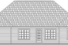 Home Plan - Traditional Exterior - Rear Elevation Plan #21-160