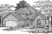 Traditional Style House Plan - 3 Beds 2.5 Baths 1987 Sq/Ft Plan #70-263 Exterior - Front Elevation