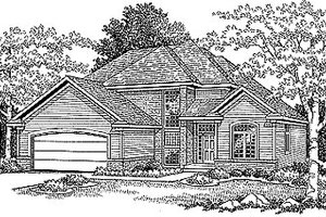 Traditional Exterior - Front Elevation Plan #70-263