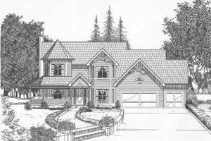 Traditional Exterior - Front Elevation Plan #6-138