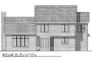Traditional Style House Plan - 4 Beds 2.5 Baths 2416 Sq/Ft Plan #70-385 Exterior - Rear Elevation