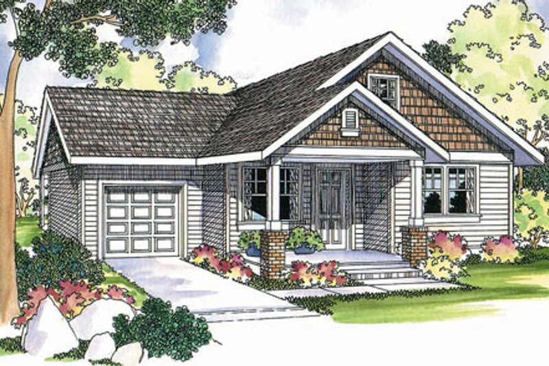 Traditional Exterior - Front Elevation Plan #124-398