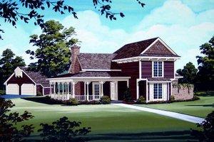 Victorian Exterior - Front Elevation Plan #45-328
