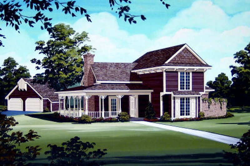 Victorian Exterior - Front Elevation Plan #45-328 - Houseplans.com