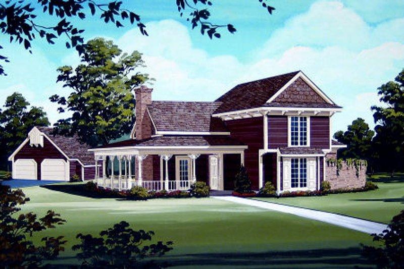 Dream House Plan - Victorian Exterior - Front Elevation Plan #45-328