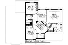 Craftsman Floor Plan - Upper Floor Plan Plan #70-1279