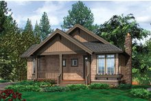 Home Plan - Front view - 1400 square foot cottage