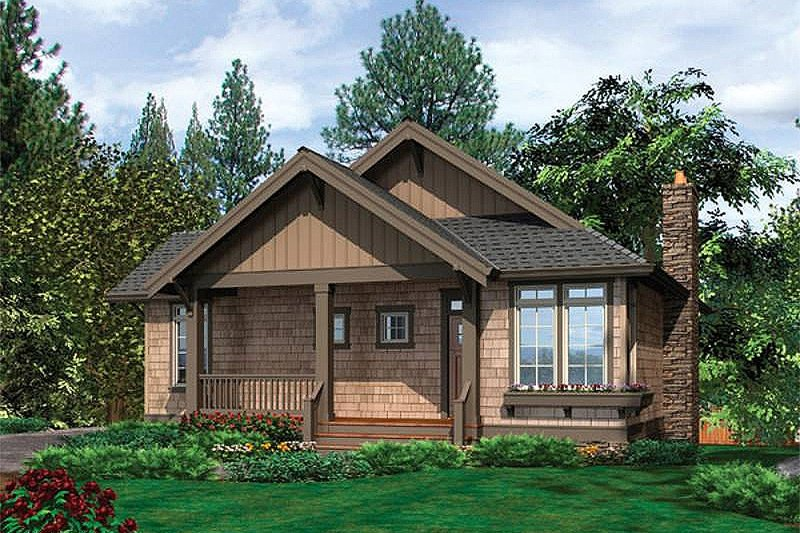 Dream House Plan - Front view - 1400 square foot cottage