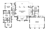Modern Style House Plan - 4 Beds 4.5 Baths 4317 Sq/Ft Plan #48-926 Floor Plan - Main Floor Plan