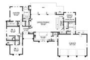 Modern Style House Plan - 4 Beds 4.5 Baths 4317 Sq/Ft Plan #48-926 Floor Plan - Main Floor Plan